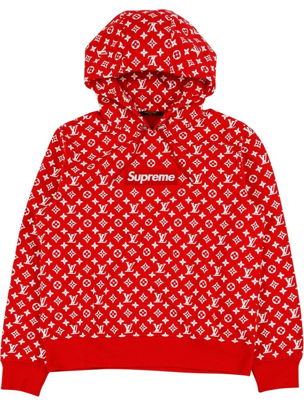 Stadium Goods Supreme x Louis Vuitton hoodie Red
