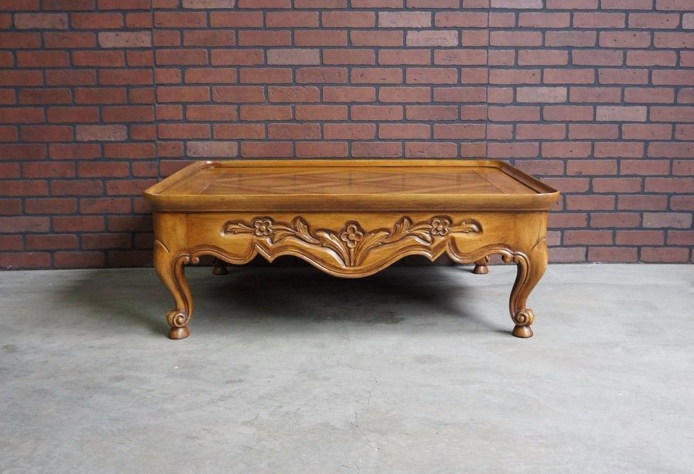 Coffee Table / Cocktail Table / French Provincial Coffee Table by Karges #Karges #FrenchCountry