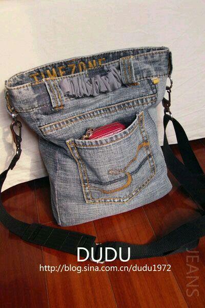 Ideas para hacer tu propio bolso con vaqueros reciclados - Patrones gratis 9edc9006da5e