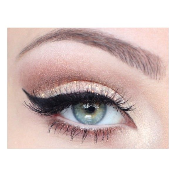 Glitter chic ❤ liked on Polyvore featuring beauty products, makeup, eye makeup, eyes, beauty, eyeshadow, black eye makeup, black makeup, black glitter eye makeup and glitter eye makeup