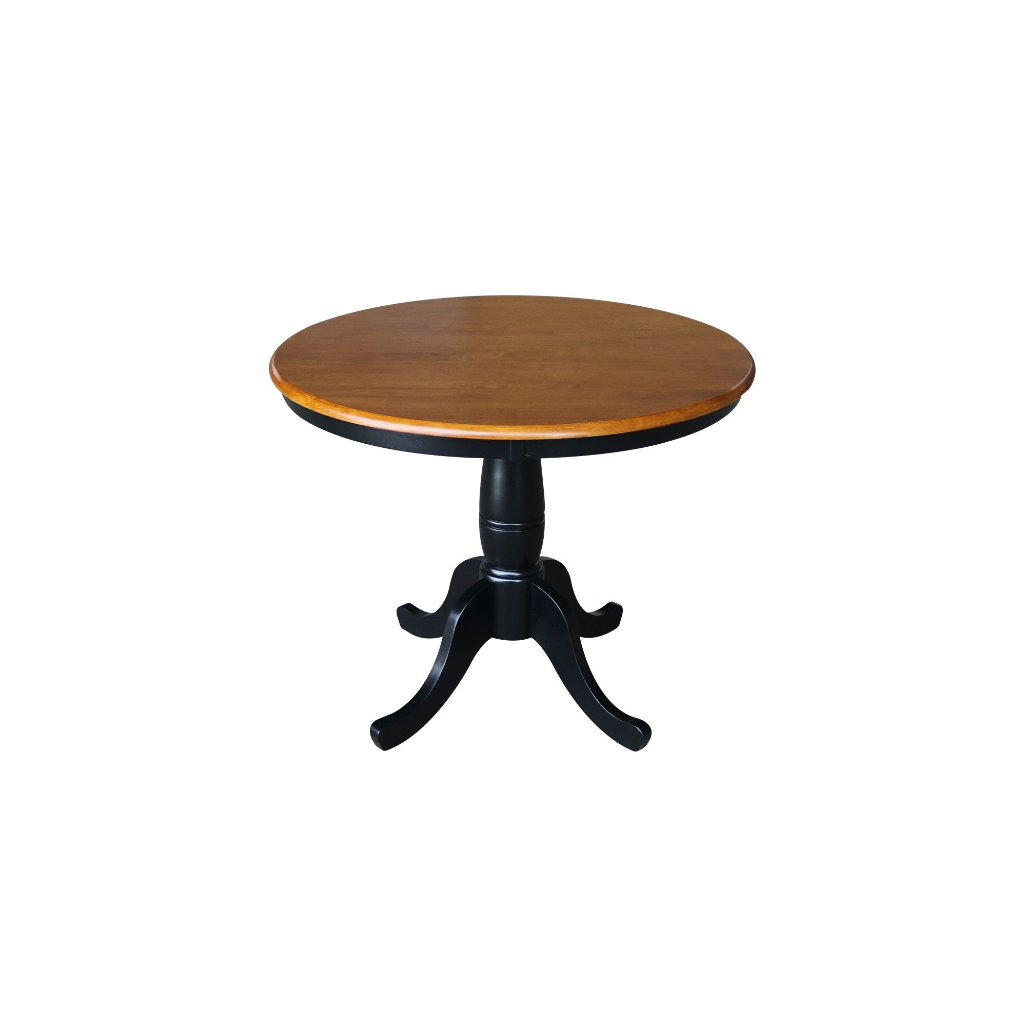 36 Round Top Pedestal Dining Table Black Red International Concepts Pedestal Dining Table Dining Table Black Dining Table