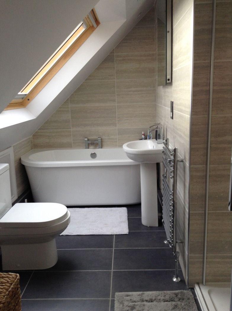 Julie From Basingstoke Shows Us How To Elegantly Transform A In 2020 Small Attic Bathroom Loft Bathroom Bathroom Layout
