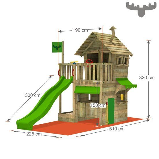 Speeltoestel FATMOOSE RebelRacer Super XXL Playhouses, Tree houses - plan maisonnette en bois