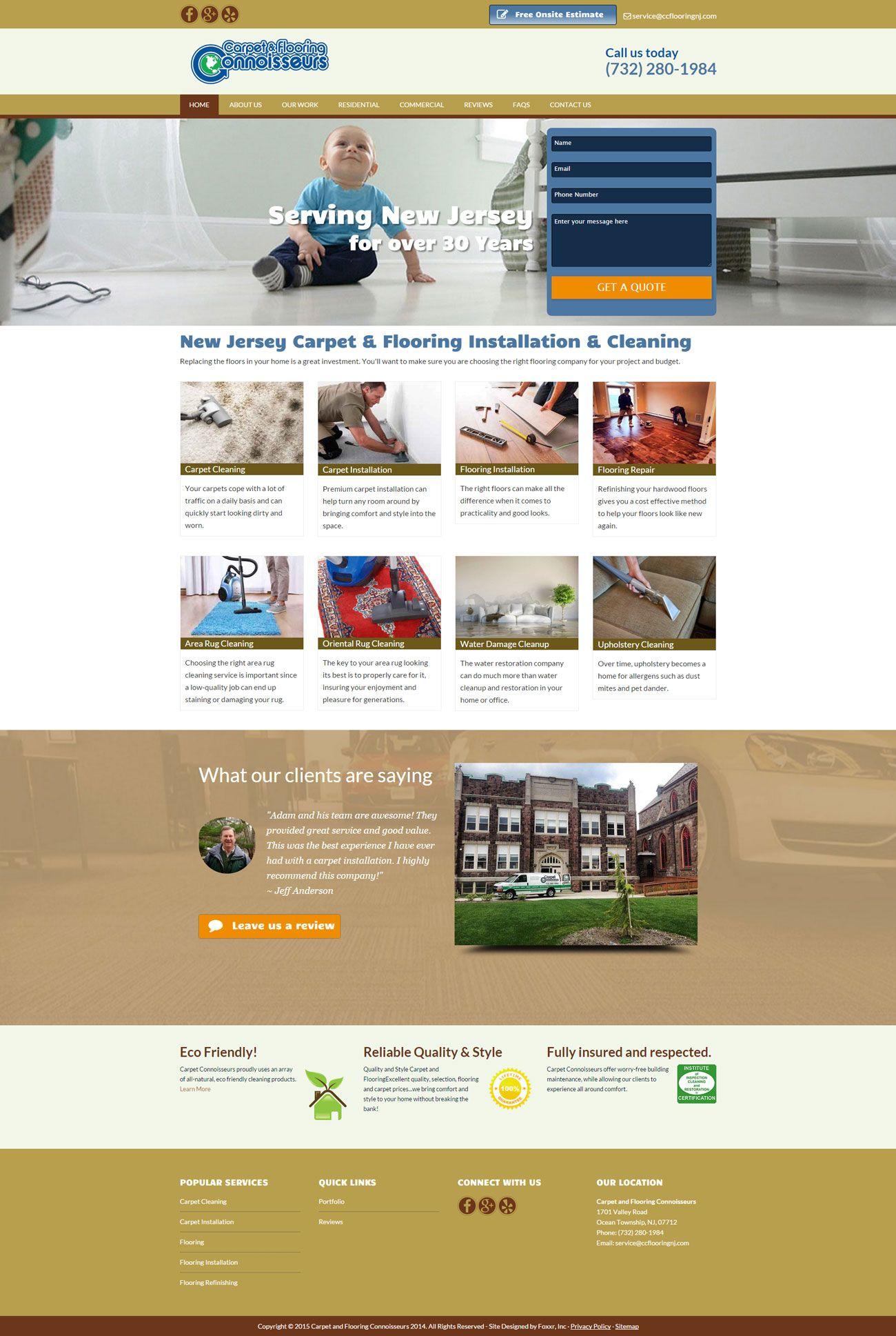 Ocean Township Nj Web Design Carpet Flooring Connoisseurs Small Business Web Design Web Design Web Design Projects