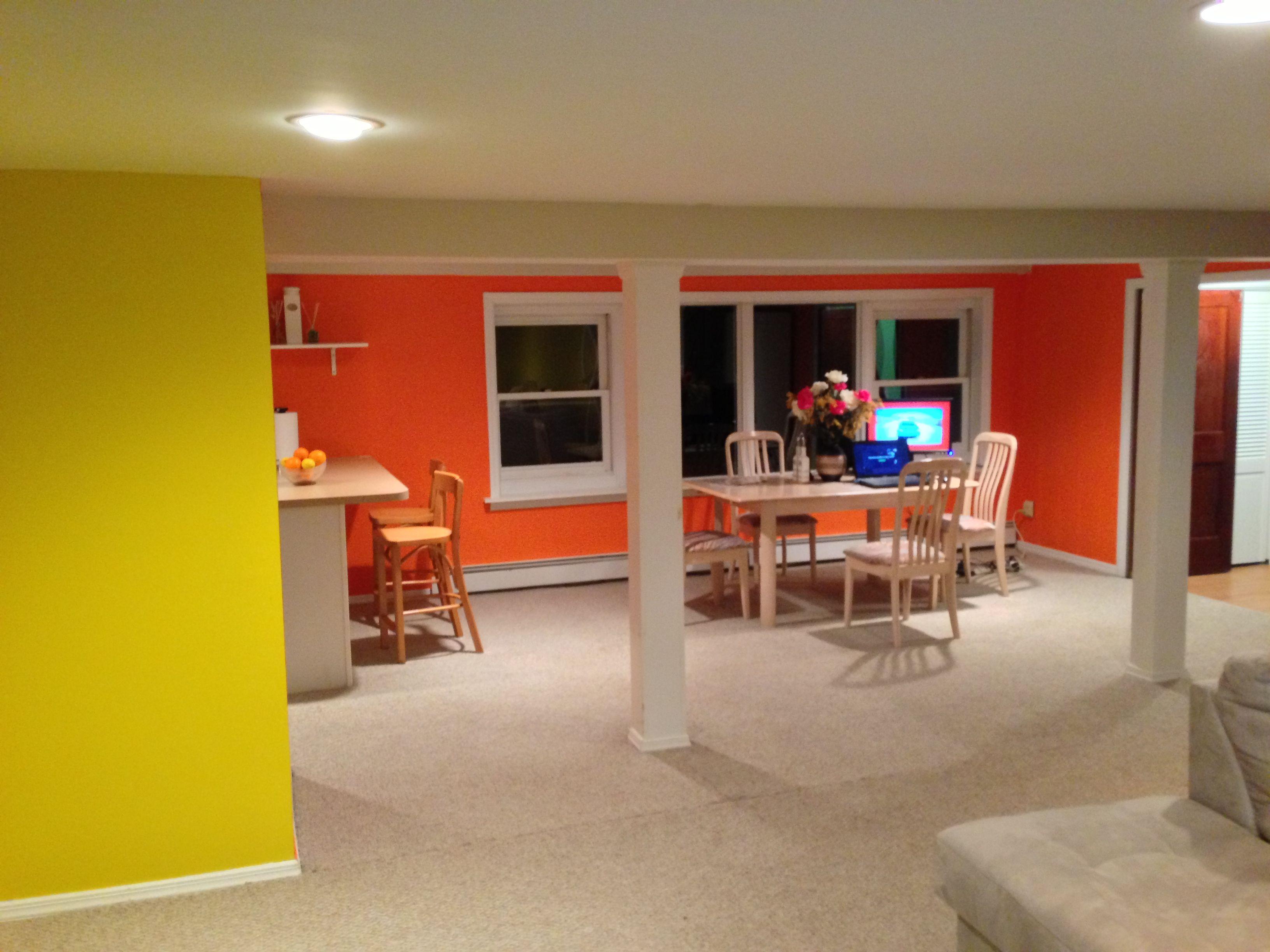 startling orange / sun kissed yellow - benjamin moore | homelife