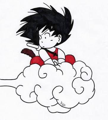 Kid Goku On Nimbus Kid Goku Dbz Art Anime