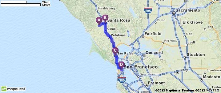 Driving Directions From Sebastopol California To San Francisco - Mapquest california