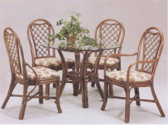 Trellis 5 Piece Rattan Dining Set Dining Furniture