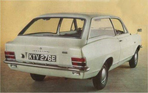 Coke bottle styling. Just look at those curves. This Vauxhall Viva Estate was certainly not the 'hottest' car on the road in its day, nor the 'coolest' perhaps, but I still find that mid-1960's shape wonderful to look at...