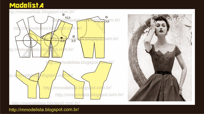 ANOS 1950   Patrones de ropa, Patrones y Ropa