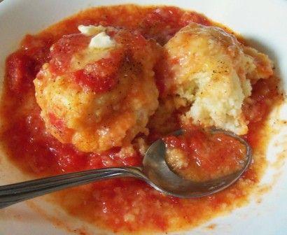 Old Fashioned Tomato Dumplings