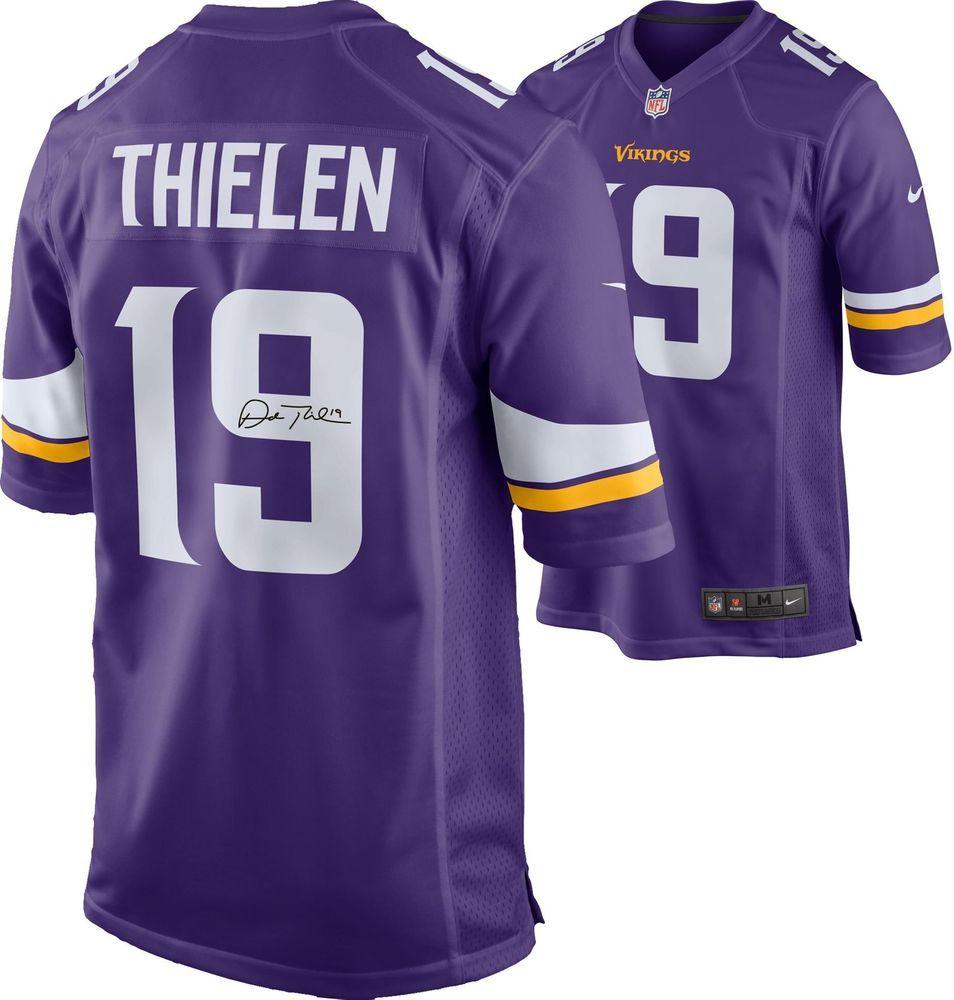 the latest da6d3 08f92 Adam Thielen Minnesota Vikings Autographed Nike Purple ...