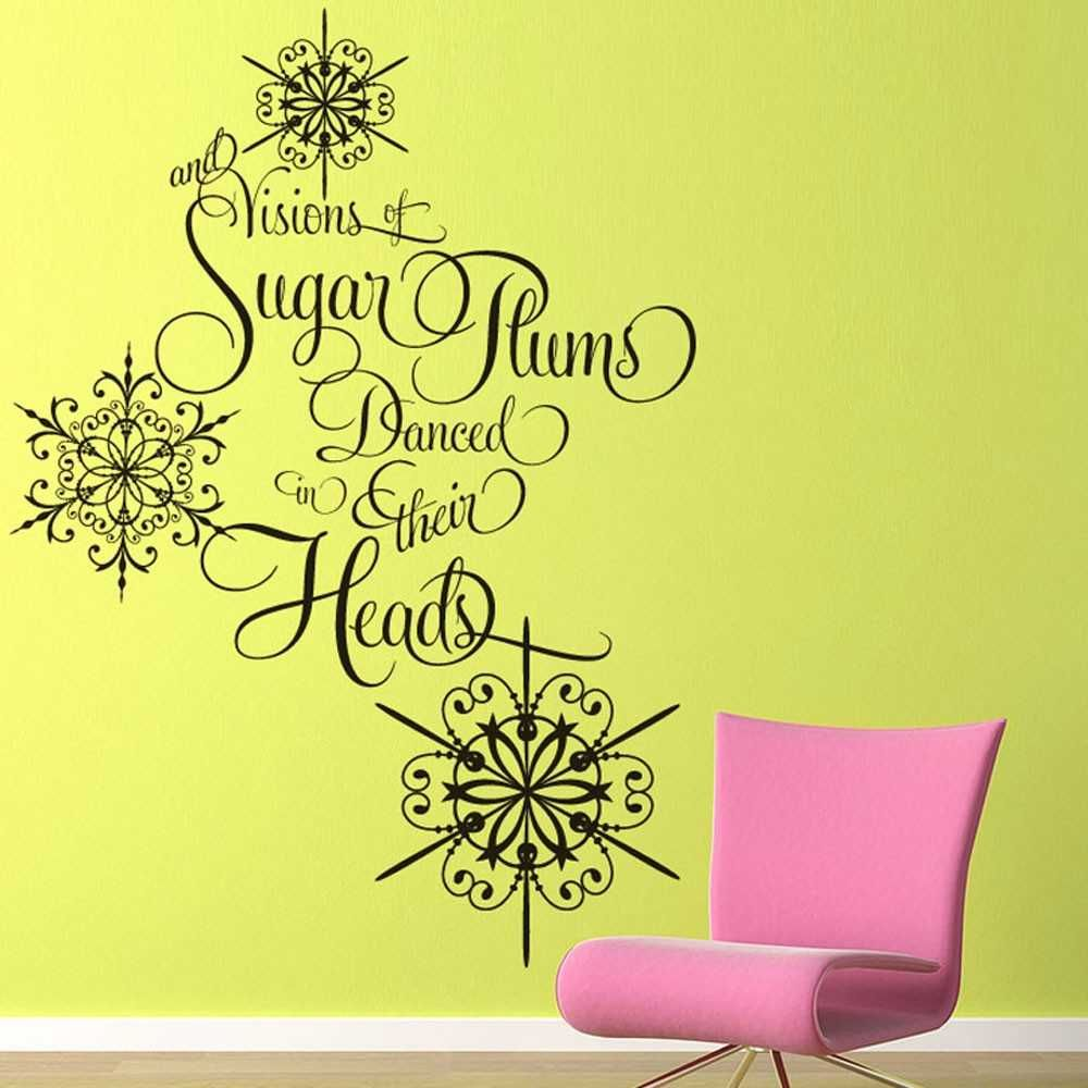 Vinyl Wall Decal Sticker Art - Sugar Plums - Christmas Decoration ...