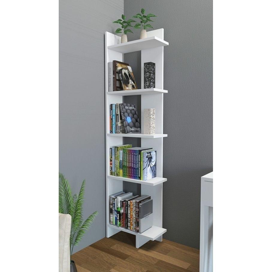 Decorotika alice accent corner bookcase tier free shipping today overstock com also teak  white oak