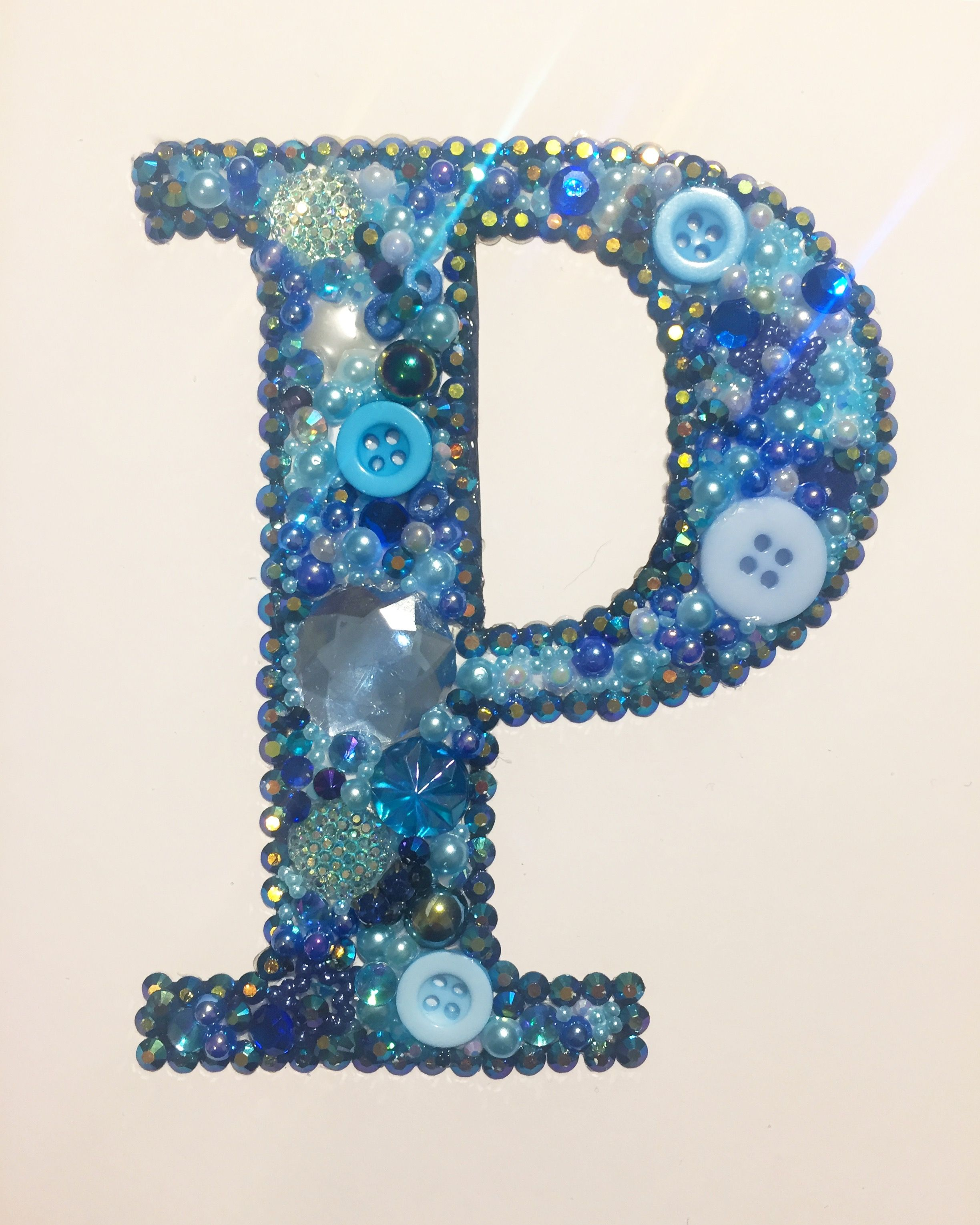 Initial Letter P Button Art And Mixed Media Art Crafts With