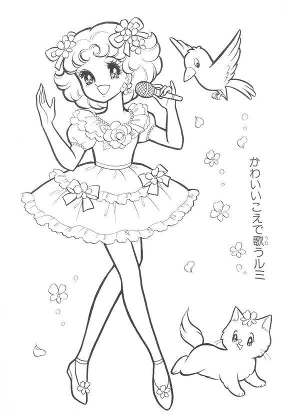 Anime/Manga Coloring Page   Anime & Manga Style ~ Adult Coloring ...