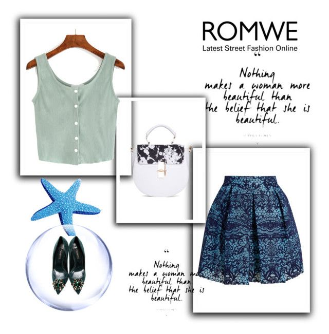 """""""romwe"""" by devla ❤ liked on Polyvore featuring Maje and Dolce&Gabbana"""