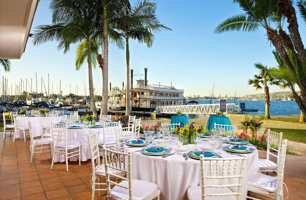 Bahia Resort Hotel San Diego CA Wedding Venues San diego