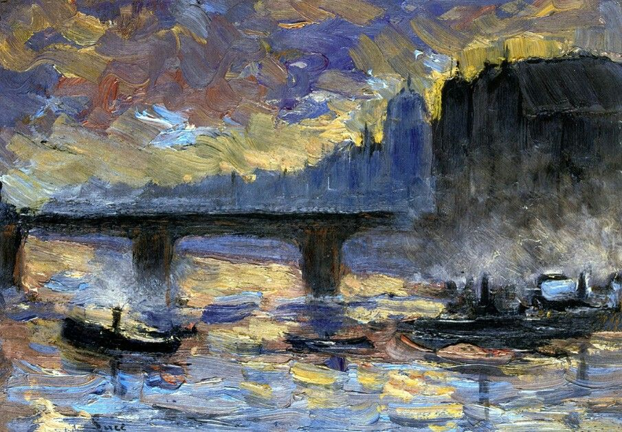 View of London  Artist:Maximilien Luce Year:1892 Type:Oil on canvas
