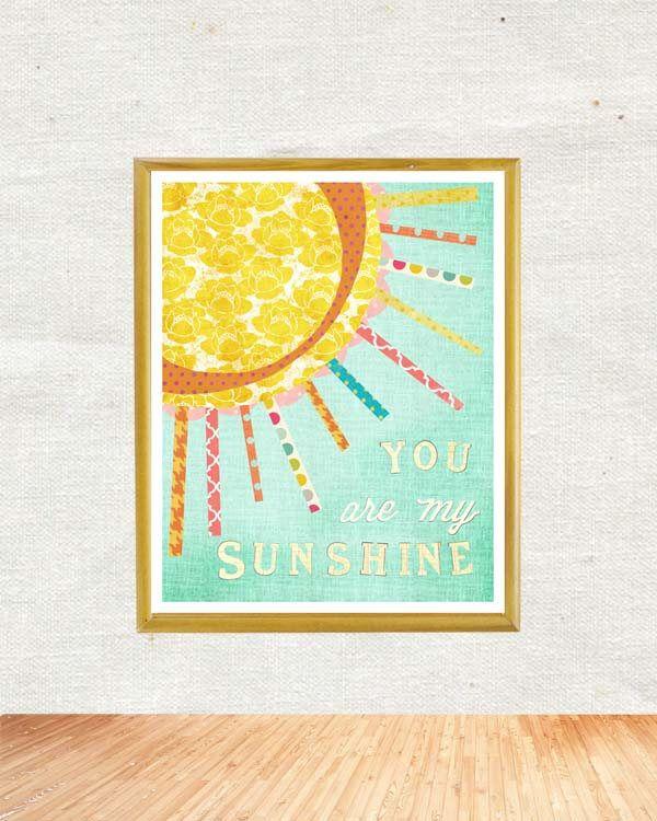 NEW You are My Sunshine, Vertical, Wall Art, Chidren\'s Wall Decor ...