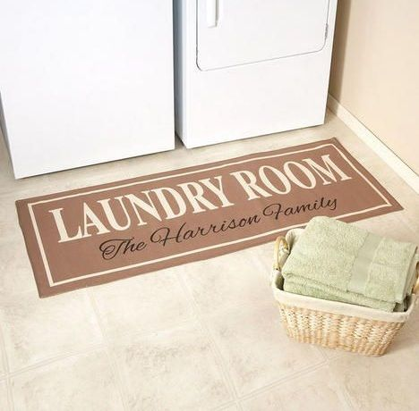 Room Personalized Laundry Rugs