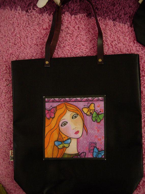 New Spring/Summer handbagtote bag of waterproof fabric by eltsamp, $48.00