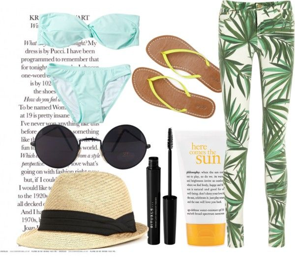 """Day At The Beach"" by ohlana ❤ liked on Polyvore"