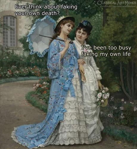 We Are Laughing At You Classical Art Meme Meme Generator