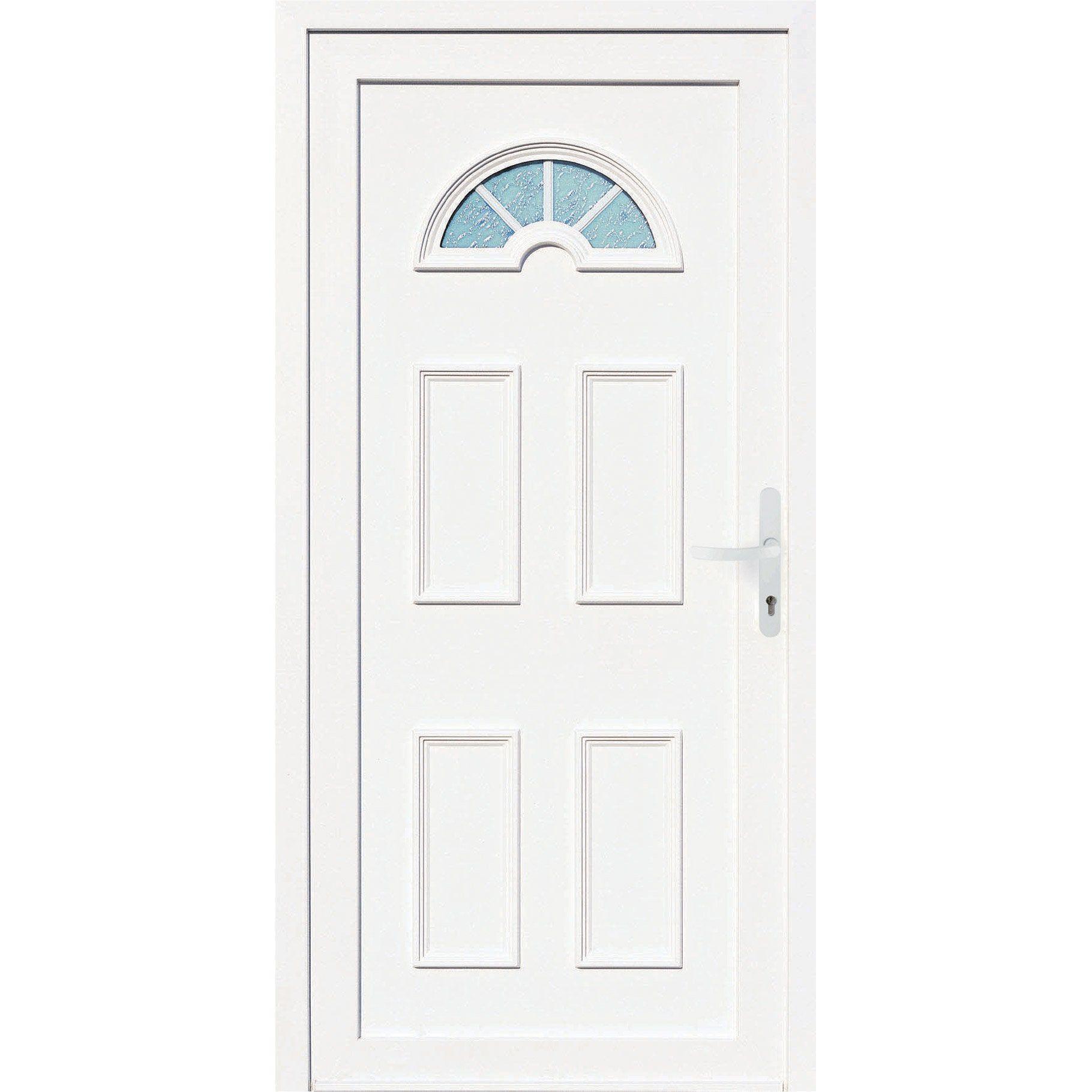 Porte D Entree Pvc Elegance 2 Primo H 215 X L 90 Cm Vitree