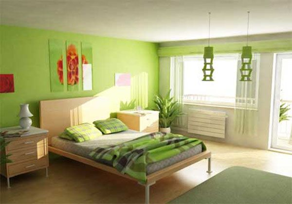 Green Lime Bedroom Color Scheme Picture | Bedroom decor | Pinterest ...