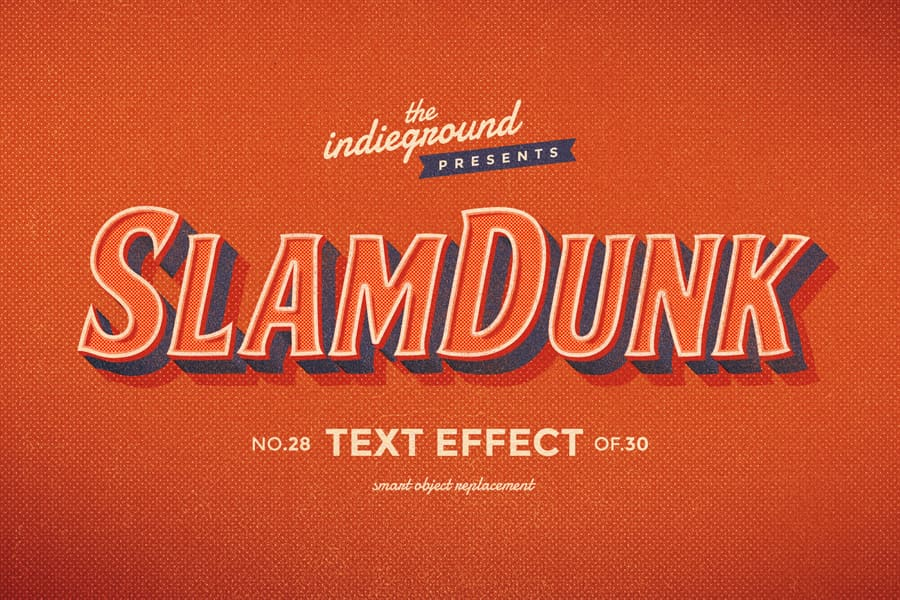 Retro Vintage Text Effect N 28 Indieground Design Retro Text Vintage Text Text Effects