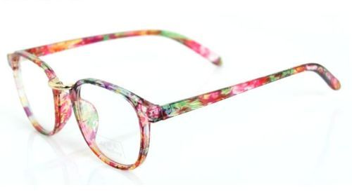 green red dazzle women eyeglass frame gold bridge clear lens eyewear rx glasses ebay - Ebay Eyeglasses Frames