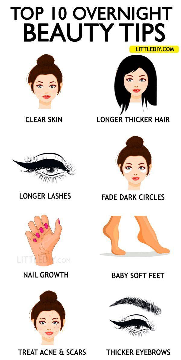 OVERNIGHT BEAUTY TIPS to wake up pretty  Beauty hacks