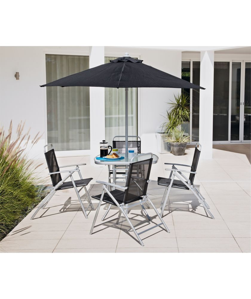 Buy Argos Home Atlantic 4 Seater Metal Patio Set -Black
