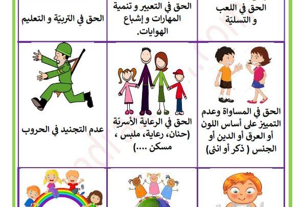 حقوق الطفل بالصور Recherche Google Kindergarten Reading Education Kindergarten
