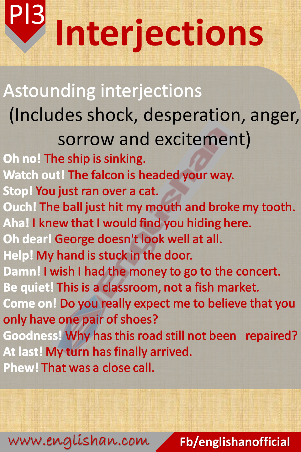 Interjections Definition And Its Kinds With Examples Interjections English Writing Skills Parts Of Speech