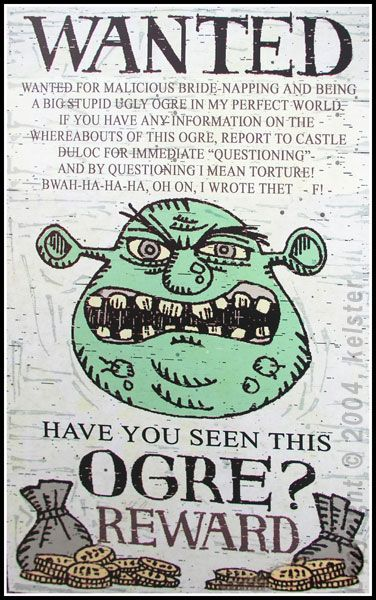 Shrek Wanted Posters Google Search Fandom Commercial