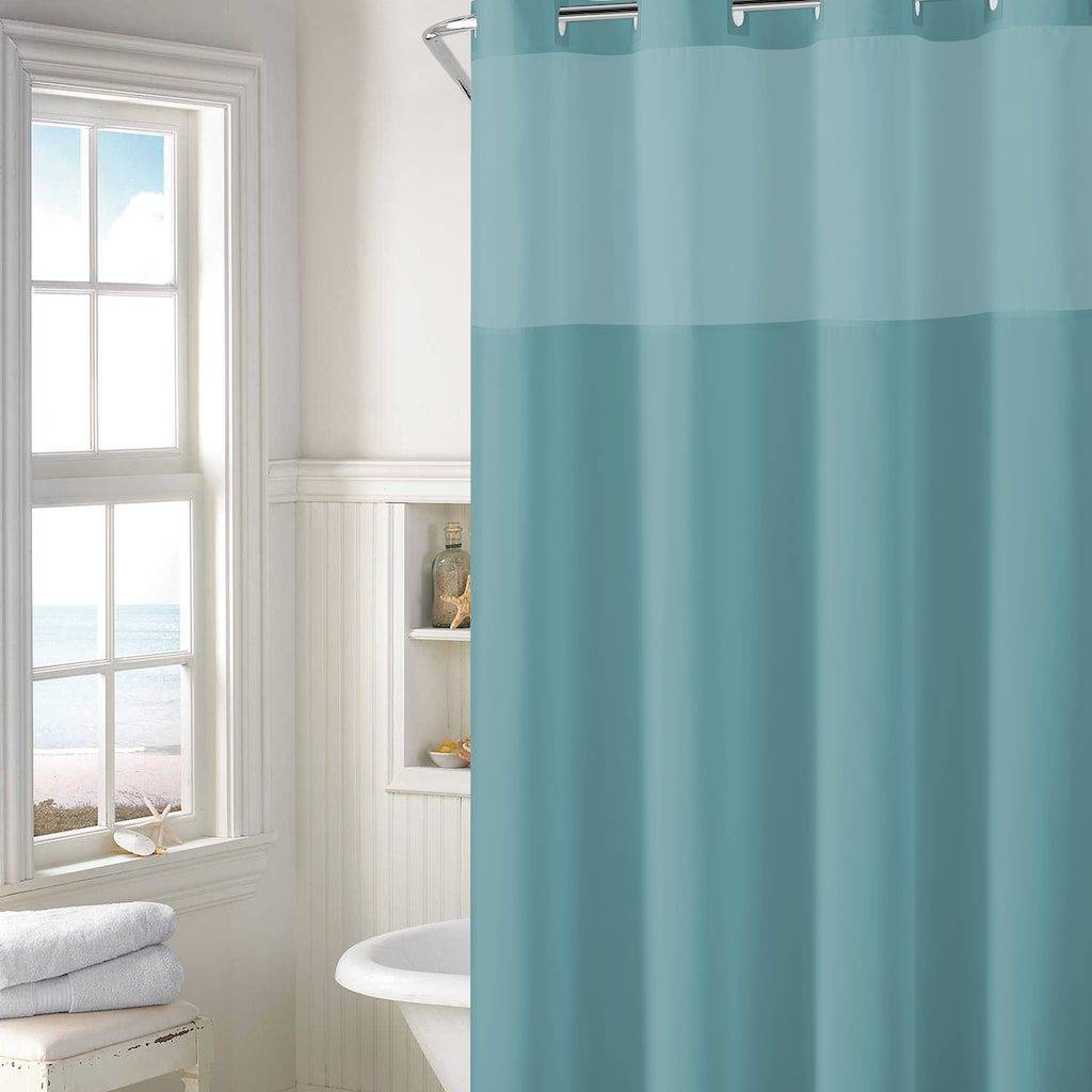 Hookless Plain Weave Shower Curtain Liner Products Hookless Shower Curtain Curtains Shower Curtain Sets
