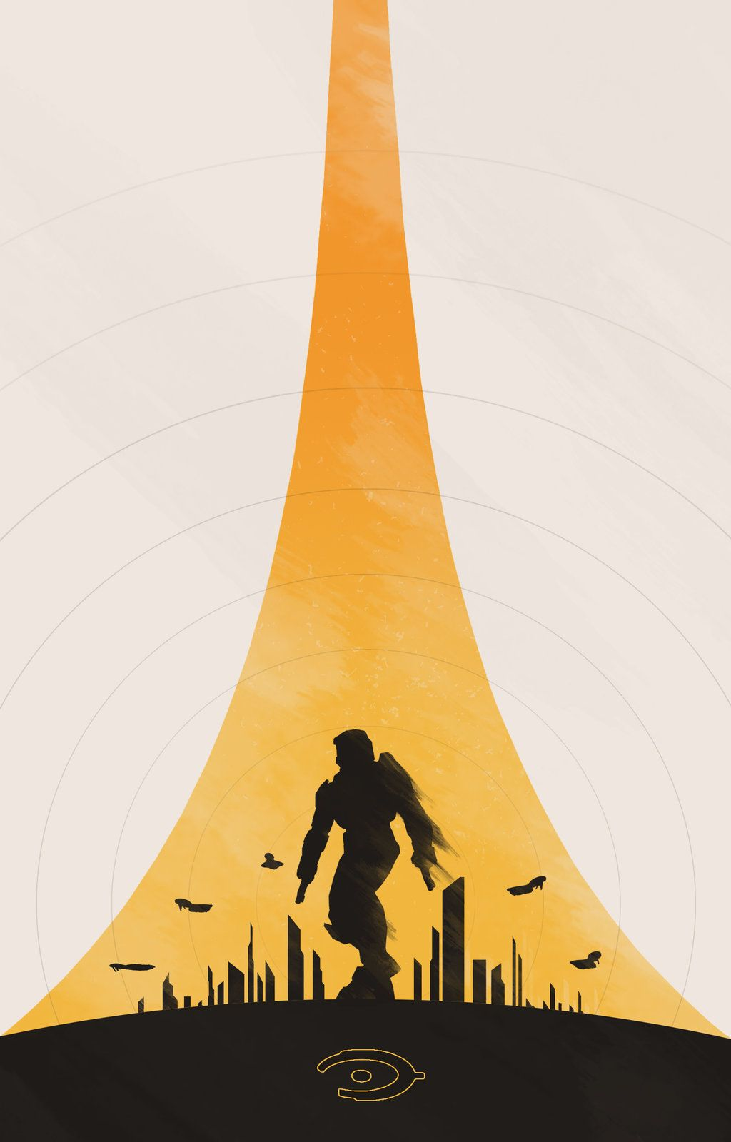 Halo Minimalist Poster Created By Colin Morella Halo 2 Anniversary Minimalist Poster Minimalism Poster