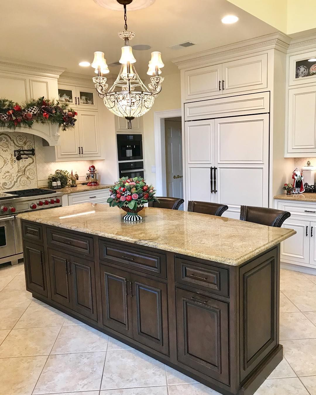 Traditional Kitchen With Custom Flush Beaded Inset Cabinetry Stacked 48 High Wall Cabinets Applied Mold Inset Cabinetry Custom Kitchen Cabinets Kitchen Remodel