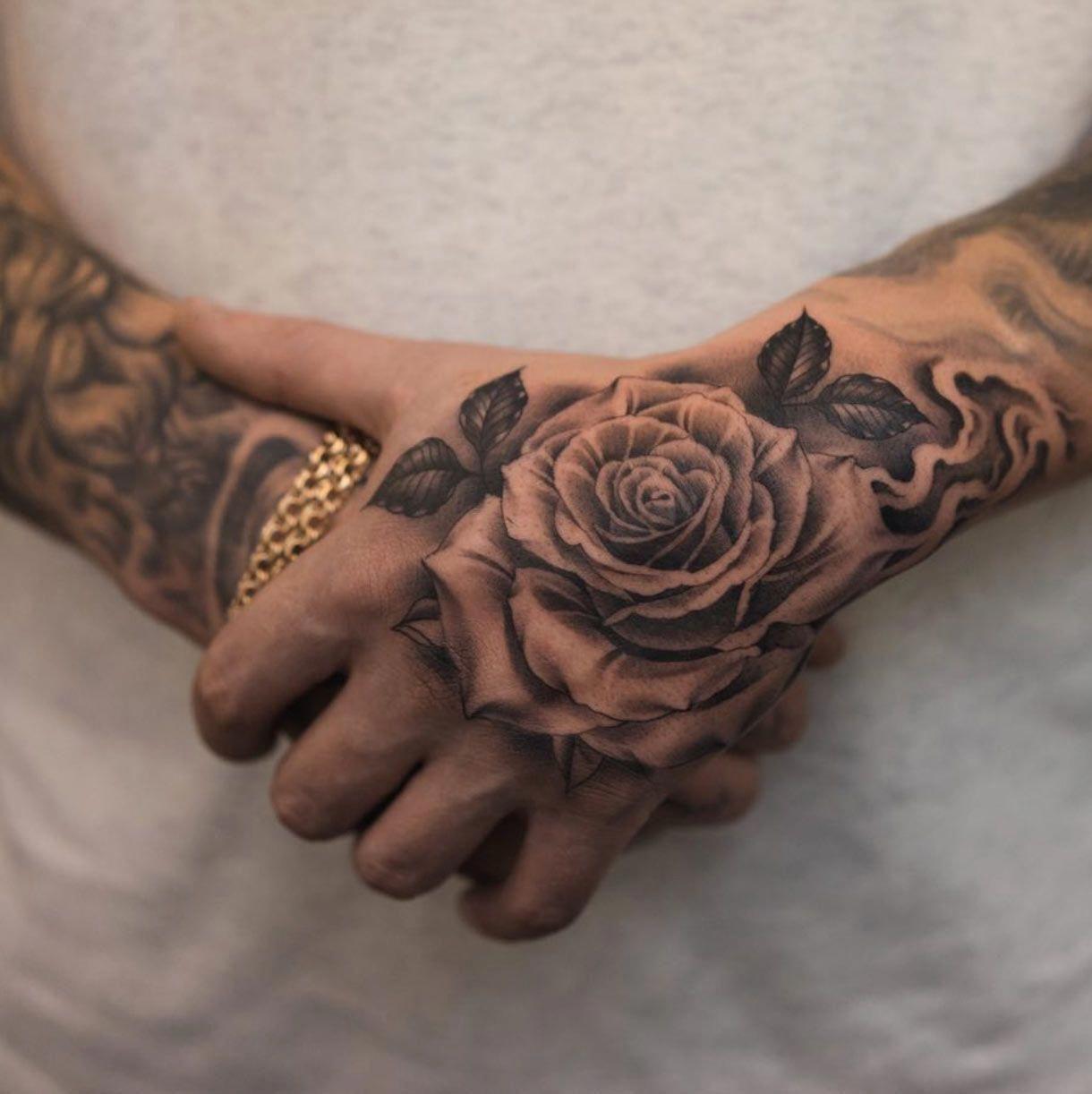 Tattoos For Men On Neck Tattoosformen Rose Tattoos For Men Hand Tattoos For Guys Tattoos For Guys