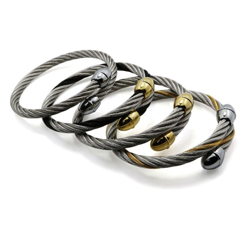 4 Color Classical Brand High Quality Stainless Steel Punk Primary ...