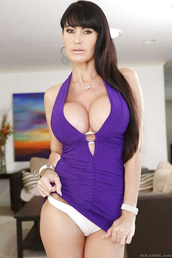 Eva Karera In A Tight Dress Purple Cleavage