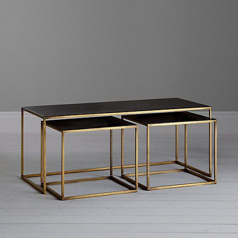 Content by terence conran coffee black enamel table and 2 for Compro sedie on line