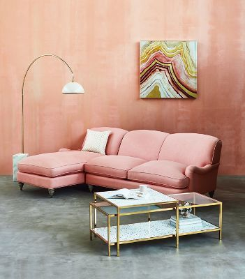 Glenlee Two-Piece Chaise Sectional | Anthropologie | Current home ...