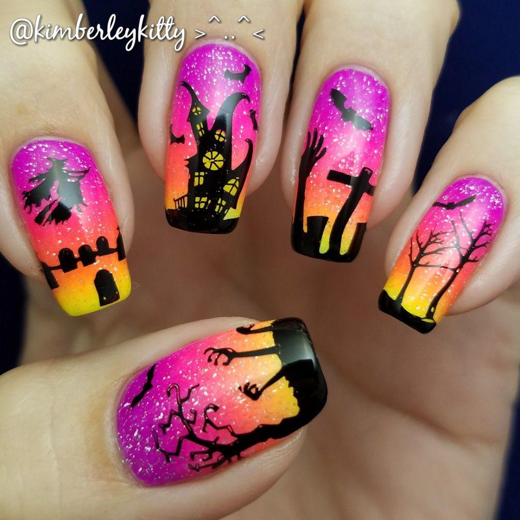 Haunted House Nails Cute Halloween Nails Crazy Nail Art Holloween Nails