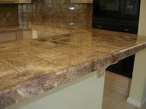 Pictures Of Tiled Bathroom Countertops