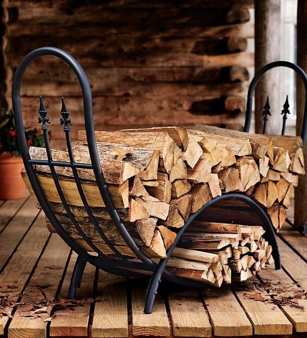 Awesome Indoor Firewood Holder Ideas Wrought Iron Fireplace Wood
