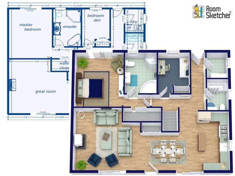 Draw A Floor Plan From A Blueprint Create House Plans Floor Plans Create Floor Plan