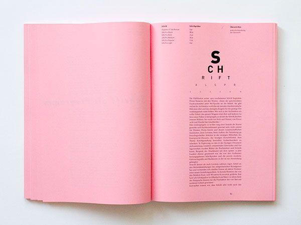 Typografie Standard On Behance Book And Magazine Design Graphic Design Marketing Book Design